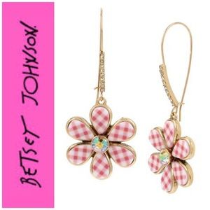 Betsey Johnson Summer Picnic Flower Drop Earrings